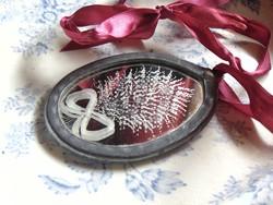 Csiszolt tükrös medalion