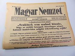 Kállay Miklós köszöntötte a 75 éves kormányzót Horthy Miklóst   -  Magyar Nemzet  1945 jún, 19..