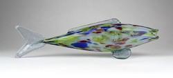 0Z416 Muránói jellegű üveg díszhal 30 cm