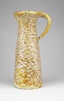 0Z246 Jelzett iparművészeti kerámia váza 18 cm