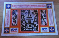 Kuriózum!!!! Nagyon ritka Weimari slyem pénz 500 Márka 1923