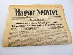Hitler megbízta Göringet újabb birodalmi tanács felállítására -  Magyar Nemzet  1942. jún. 17.