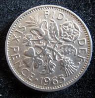 Egyesült Királyság, 1965 6 pence VF