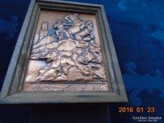 Az első német vasút emlékére allegorikus Kentaur szoborcsoport a GŐZ EREJE MEGZABOLÁZÁSÁRÓL Fürth