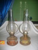Régi petróleum lámpa - két darab