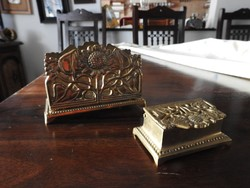 Réz íróasztali szet - bélyegtartó és levéltartó - Művészcsarnok -ból