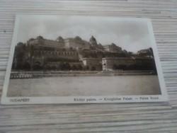 Régi képeslap Budapest Királyi palota (1937).
