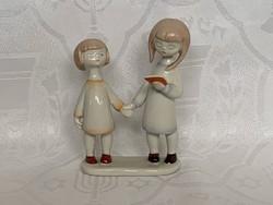 Aquincumi olvasó kislányok, 13 cm.
