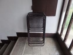 3 db Összecsukható vas szék