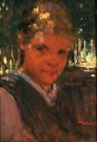 Mérő István (1873-1938) Kislány Portré Kenesei Kis Leány Olaj Fa Lány Gyerek Kisgyerek Olajfestmény