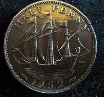 Egyesült Királyság ½ Penny, 1952 VF