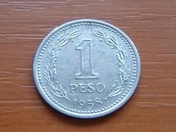 ARGENTÍNA ARGENTIN 1 PESO 1958 #