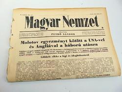 Molotov egyezményt kötött USA-val és Angliával a háború utánra  -  Magyar Nemzet  1942. jún. 12.