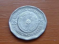 ARGENTÍNA ARGENTIN 25 PESOS 1966 6,45 g., 26 mm #