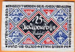 Kuriózum!!!! Nagyon ritka Weimari slyem pénz 25 Márka