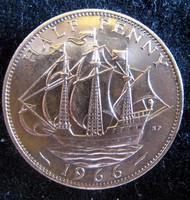 Egyesült Királyság ½ Penny, 1966 VF
