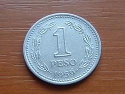 ARGENTÍNA ARGENTIN 1 PESO 1959 #