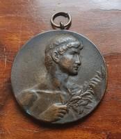 1. Bronz érem plakett kitüntetés antik 1927 LAD