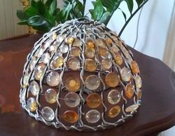 Angliában vásárolt Art Deco színes üveg lámpabúra hibátlan, hiánytalan, gyönyörű állapotban