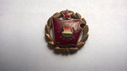 Retro Zománcozott Szocialista brigád kitűző, jelvény ,bross