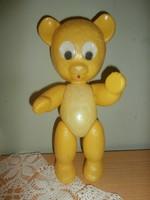 Retro sárga műanyag mackó