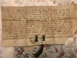Váradi káptalan oklevele 1279-ből, Árpád korabeli -Utolsó aukció!