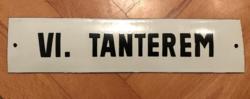 Tanterem - zománctábla (zománc tábla)