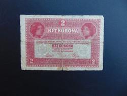 2 korona 1917 7000 feletti sorszám 7339  RITKA