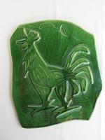 Jelzett kerámia kép fali dísz kakas