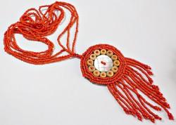 Piros gyöngyös nagyméretű nyakék