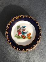 Zsolnay Pompadour III mini tányér Donald kacsával