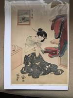 Utagawa Kunisada 20. század eleji reprodukciós fametszete