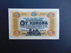Hajmáskér 5 korona 1916  01