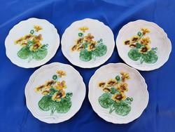 Willeroy & boch szecessziós majolika tányérok
