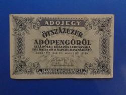 ÖTSZÁZEZER ADÓPENGŐ 1946