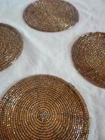 Gyöngyből készült GOLD Poháralátét-SZETT-egyedi