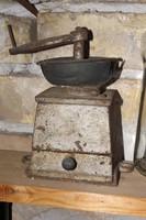 Antik kávé bors daráló Loft öntöttvas industrial Ipari vintage vas kávédaráló őrlő malom