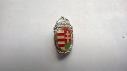 Árpád sávos zománcozott -magyar címeres bross,kitűző,jelvény-uniszex