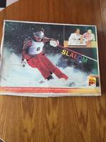 Retro Slalom Sí Síelés Társasjáték - Lemez játék - Dekoráció