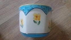 Hódmezővásárhelyi majolikagyár utolsó darabjai/ kaspók+váza