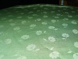 Gyönyörű  vintage zöld szőttes damaszt terítő Új