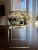 Antik Zsolnay perzsa dekoros mini kaspó