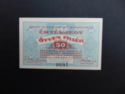 50 fillér 1919 Szent - Margitsziget Gyógyfürdő Hajtatlan