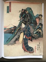 Utagava Kunisada EREDETI fametszet 1838-ból Hakone látképével