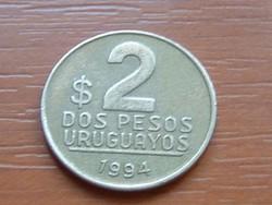 URUGUAY 2 PESOS 1994 ARTIGAS #