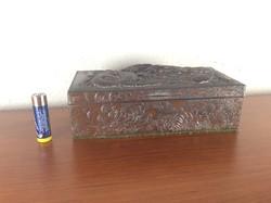 Art deco Japán/Kínai sárkányos cigarettás fémdoboz a 20-as évekből