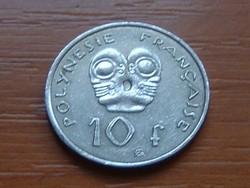 FRANCIA POLINÉZIA POLYNESIE 10 FRANK FRANCS 2009 I.E.O.M. #