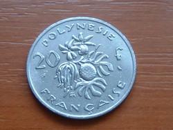 FRANCIA POLINÉZIA POLYNESIE 20 FRANK FRANCS 1972 I.E.O.M. #