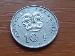 FRANCIA POLINÉZIA POLYNESIE 10 FRANK FRANCS 1984 (a) I.E.O.M. #