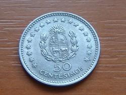URUGUAY 50 CENTESIMOS 1960 ARTIGAS 4,5 g, 22 mm, Réz-nikkel #